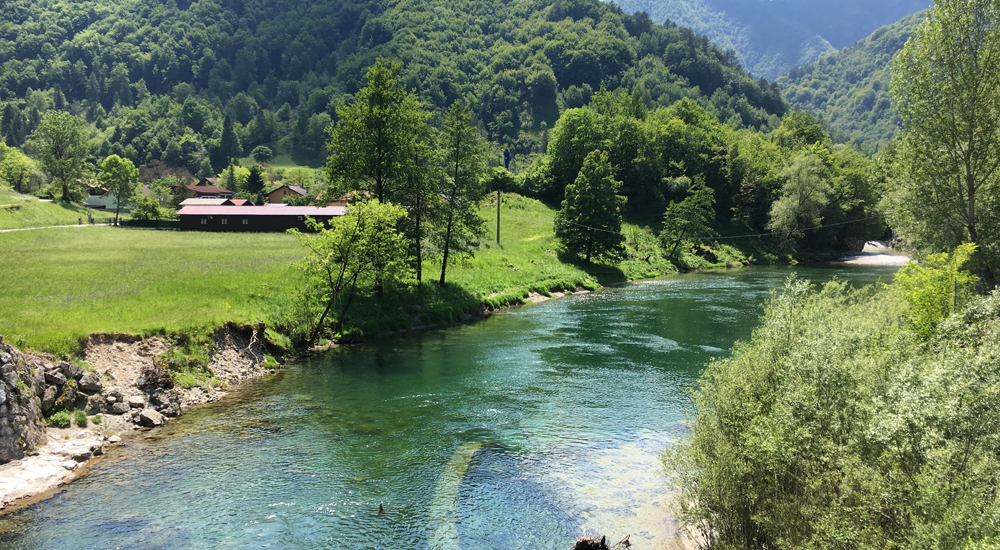 Idrijca Slowenien